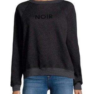 Wildfox Noir Sommers Sweatshirt Small Black Grey